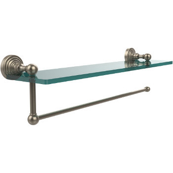 22'' Shelves with Pewter and Paper Towel Roll Holder Hardware