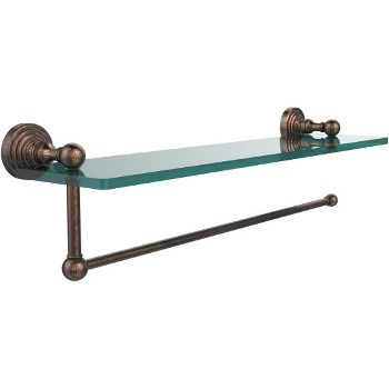 22'' Shelves with Venetian Bronze and Paper Towel Roll Holder Hardware