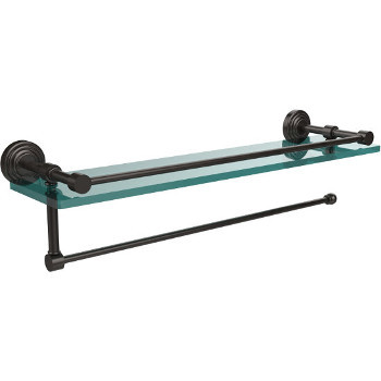 22'' Shelves with Oil Rubbed Bronze and Paper Towel Roll Holder Hardware
