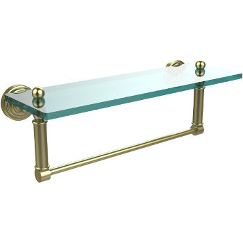 16'' Shelves with Satin Brass and Towel Bar Hardware