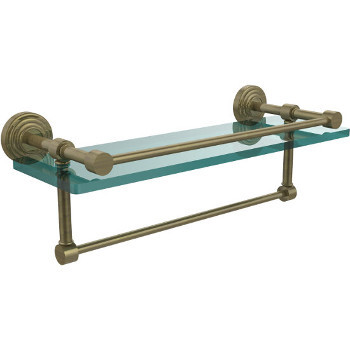 16'' Shelves with Antique Brass and Towel Bar Hardware