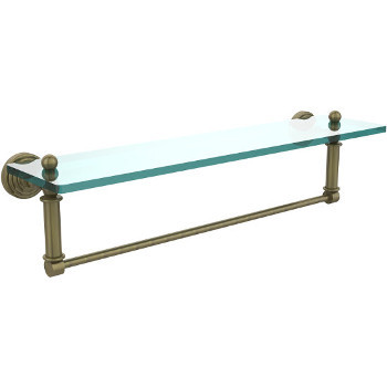22'' Shelves with Antique Brass and Towel Bar Hardware