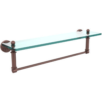22'' Shelves with Antique Copper and Towel Bar Hardware