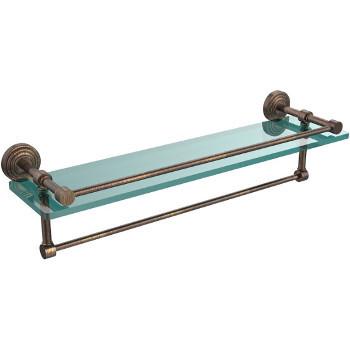 22'' Shelves with Venetian Bronze and Towel Bar Hardware