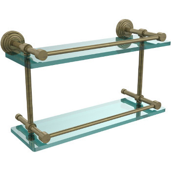 16'' Shelves with Antique Brass Hardware