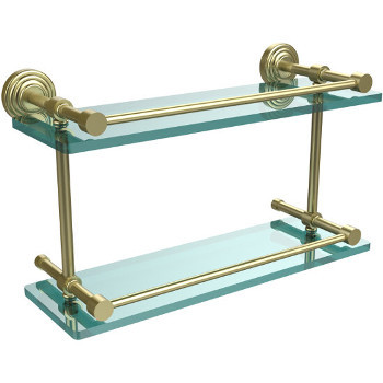 16'' Shelves with Satin Brass Hardware