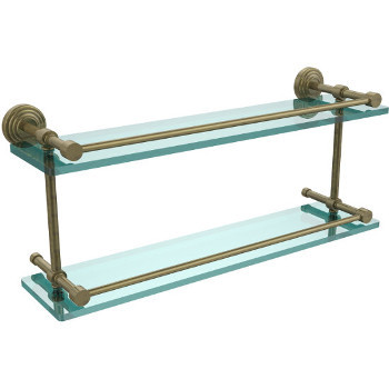 22'' Shelves with Antique Brass Hardware
