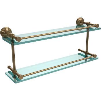 22'' Shelves with Brushed Bronze Hardware