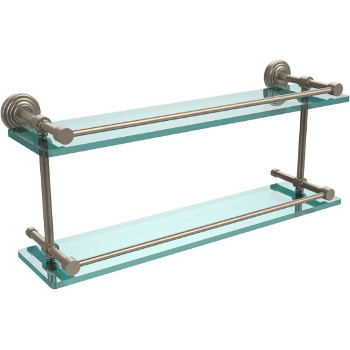 22'' Shelves with Pewter Hardware