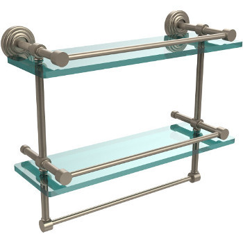 16'' Shelves with Pewter and Towel Bar Hardware