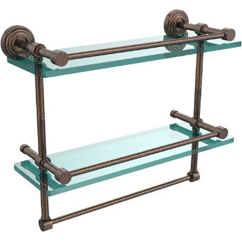 16'' Shelves with Venetian Bronze and Towel Bar Hardware