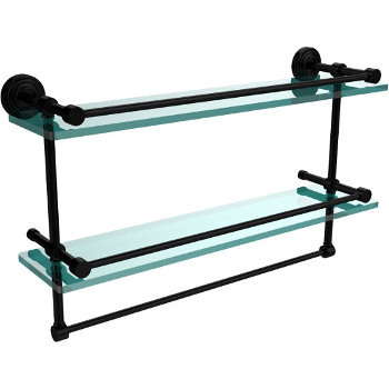 22'' Shelves with Matte Black and Towel Bar Hardware
