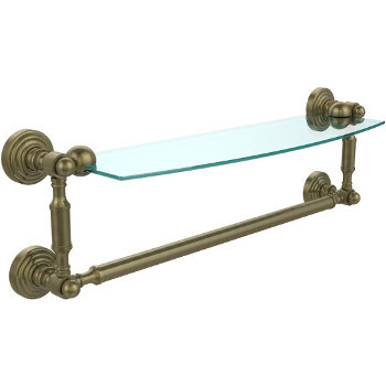 18'' Antique Brass with Towel Bar