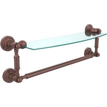 18'' Antique Copper with Towel Bar