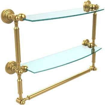 18'' Polished Brass with Towel Bar