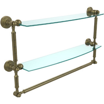 24'' Antique Brass with Towel Bar