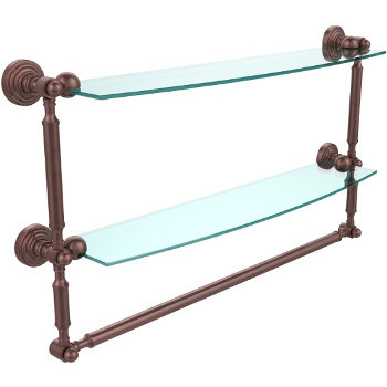 24'' Antique Copper with Towel Bar