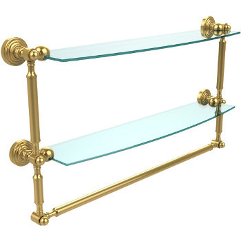 24'' Polished Brass with Towel Bar