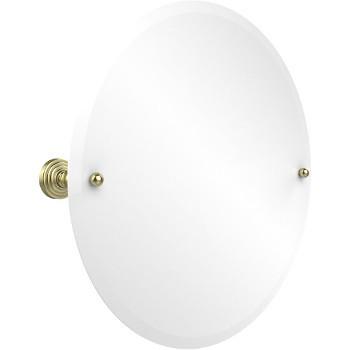 """Allied Brass Round Tilt Mirror w/ beveled edge, Waverly Place, 22"""" dia., Premium, Satin Brass"""