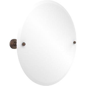 """Allied Brass Round Tilt Mirror w/ beveled edge, Waverly Place, 22"""" dia., Premium, Venetian Bronze"""