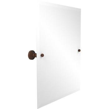 """Allied Brass Rectangular Tilt Mirror, Waverly Place, 21""""W x 26""""H, Premium, Antique Bronze"""