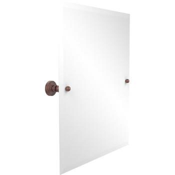 """Allied Brass Rectangular Tilt Mirror, Waverly Place, 21""""W x 26""""H, Premium, Antique Copper"""