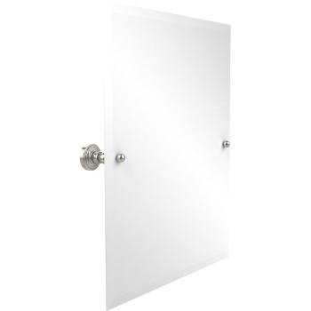 """Allied Brass Rectangular Tilt Mirror, Waverly Place, 21""""W x 26""""H, Premium, Polished Nickel"""
