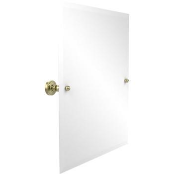 """Allied Brass Rectangular Tilt Mirror, Waverly Place, 21""""W x 26""""H, Premium, Satin Brass"""