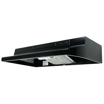 Air King AV Series Under Cabinet Mount Advantage Economy Range Hood, Black