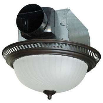 Air King Decorative Round Bathroom Exhaust Fan With Light