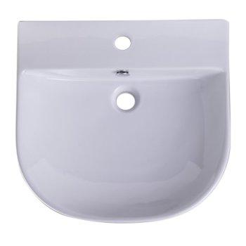 """20"""" White D-Bowl Bath Sink"""