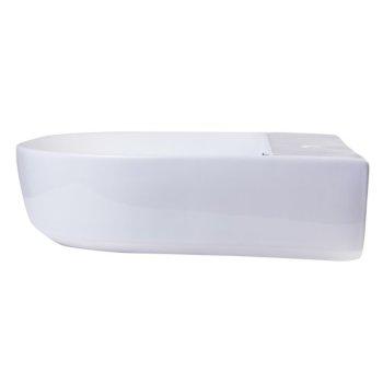 """20"""" White D-Bowl Bath Sink View - 1"""