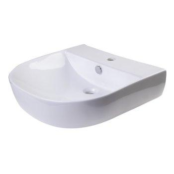 """20"""" White D-Bowl Bath Sink View - 2"""