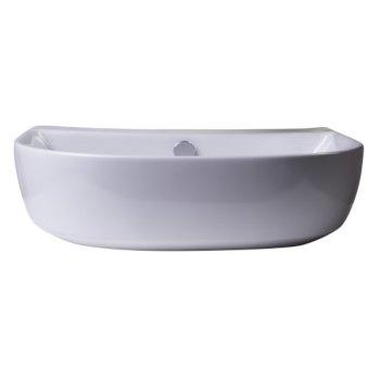 """20"""" White D-Bowl Bath Sink View - 4"""
