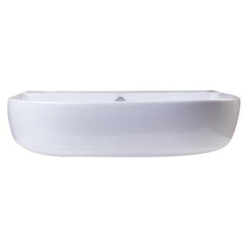 """24"""" White D-Bowl Bath Sink View - 1"""