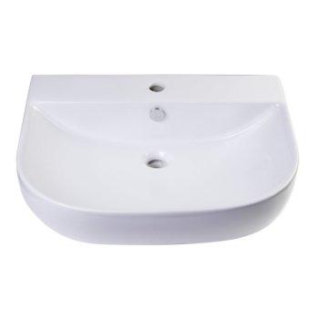 """24"""" White D-Bowl Bath Sink View - 3"""