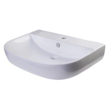 """28"""" White D-Bowl Bath Sink"""