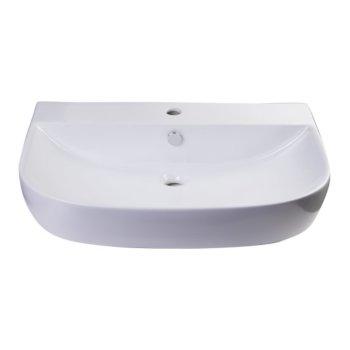 """28"""" White D-Bowl Bath Sink View - 4"""