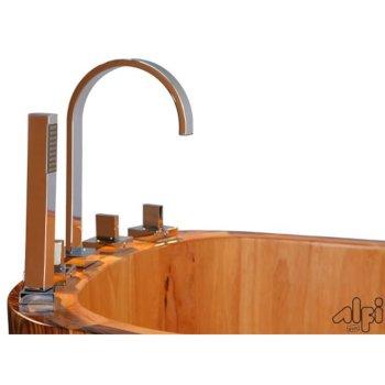 Wooden Bathtub Faucet View