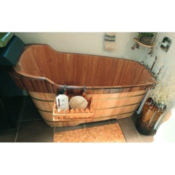 """59"""" Bathtub w/ Chrome Tub Filler"""