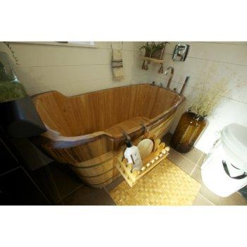 Wooden Bathtub Illustration