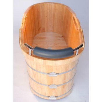 Wooden Bathtub Headrest View