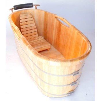 """61"""" Bathtub w/ Cushion Headrest"""