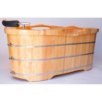 Wooden Bathtub Angle View