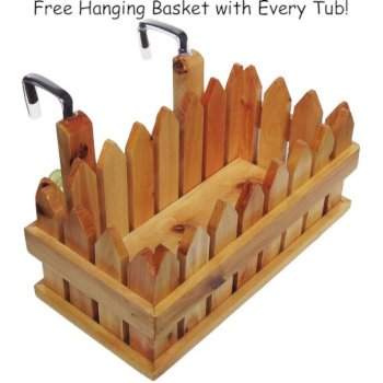 Wooden Hanging Basket Angle View