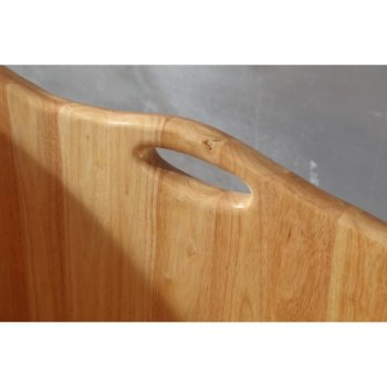 Natural Wood Bathtub Handle View