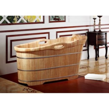 "57"" Rubber Soaking Bathtub w/ Headrest"