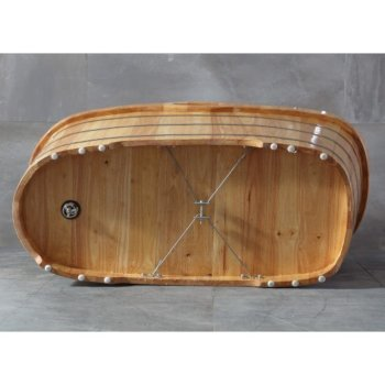 Natural Wood Bathtub Bottom View