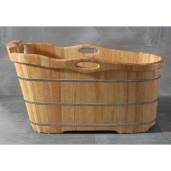 Natural Wood Bathtub Illustration