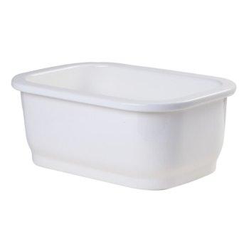 "ALFI brand Small Rectangular Fireclay Undermount or Drop In Prep / Bar Sink in White, 12-1/4"" W x 18-1/4"" D x 7-3/8"" H"